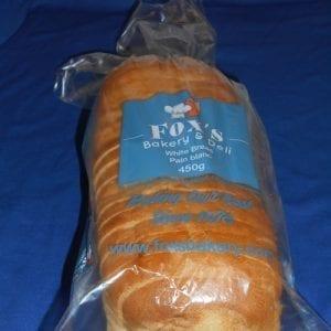 """White Bread 450g Reg Sliced (1/2"""")"""