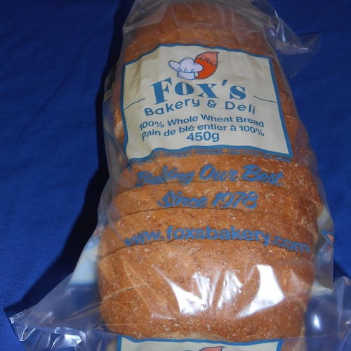 "Whole Wheat Bread 450g Regular Sliced (1/2"")"